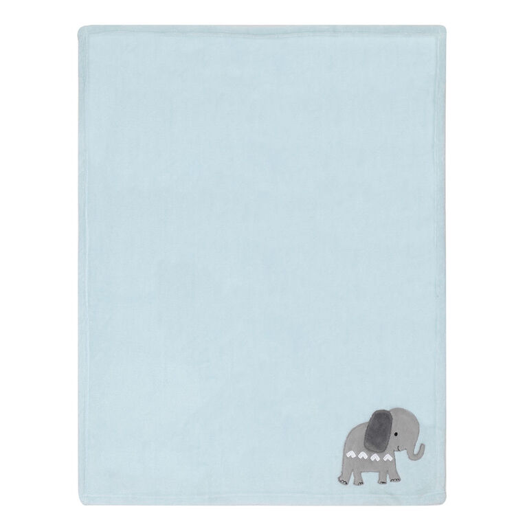 Bedtime Originals Jungle Fun Baby Blanket Blue