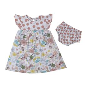 Rococo 2-Piece Dress with Panty Set - Pink, 18-24 Months