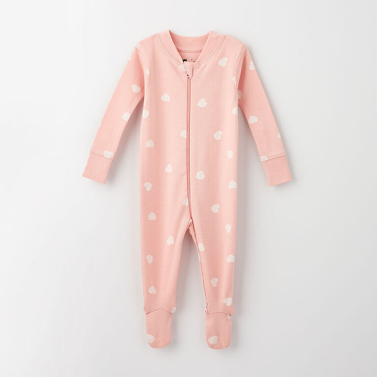 happy dream organic sleeper, 9-12m - light pink