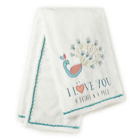 Levtex Baby Fiona Plush Blanket - Peacock