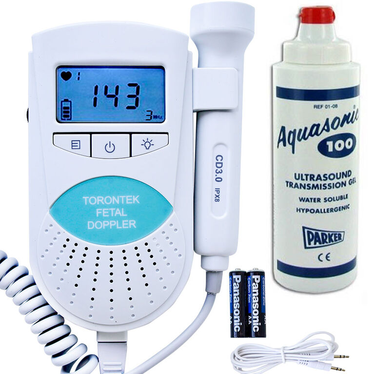Torontek R88 Fetal Heart Monitor with 250 ml Gel