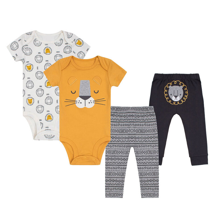 PL Baby Safari Ensemble Mix & Match 4pk Jaune 3M