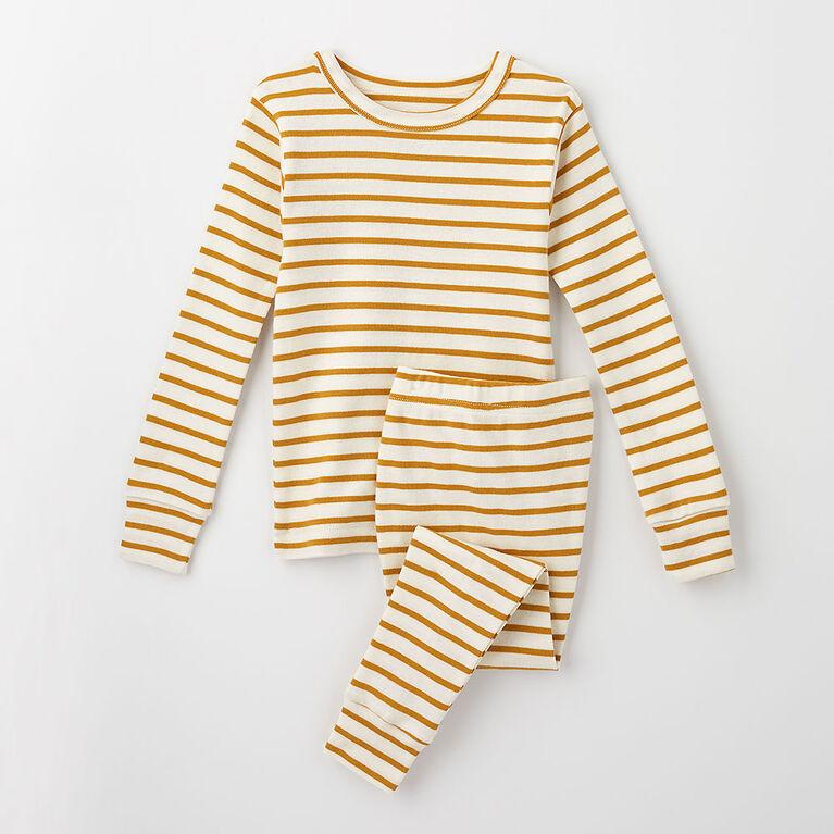 happy dream organic sleep set, 12-18m - honey stripe