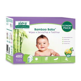 Aleva Naturals Bambo Baby Serviettes - 480 Count.