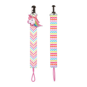 No Throw 2-Pack Pacifier Holder - Unicorn