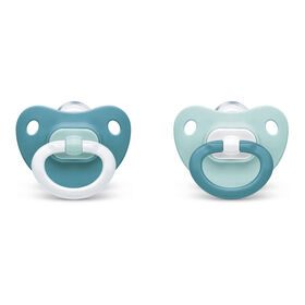 NUK Orthodontic Pacifiers, 0-6 Months, 2 Pack, Assorted Colors