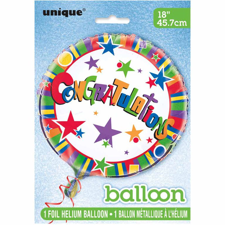 "Ballon aluminium rond, 18 "" - Congrats Twinkle - Édition anglaise"