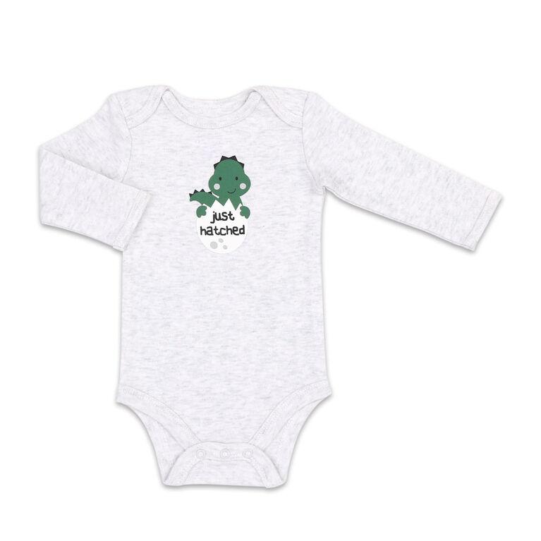 Combinaison à manches longues Koala Baby en paquets de 4, modèle Camouflage de dinosaure, 0-3 Mois
