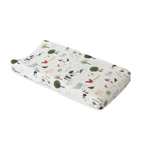 Red Rover - Cotton Muslin Changing Pad Cover - Family Farm - R Exclusive