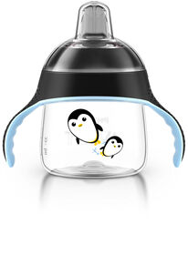 Philips AVENT - My Penguin Sippy Cup, 7oz, Black.