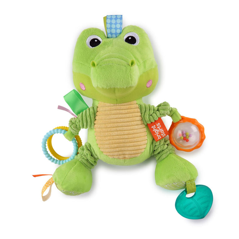 Bright Starts Bunch-O-Fun Plush Activity Toy - Alligator, Ages 3 months +