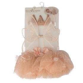 Elly & Emmy 3-Piece Tutu Set - Peach Flower