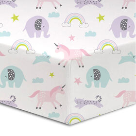 Koala Baby - Flannel 1 Happy Day Crib Sheet