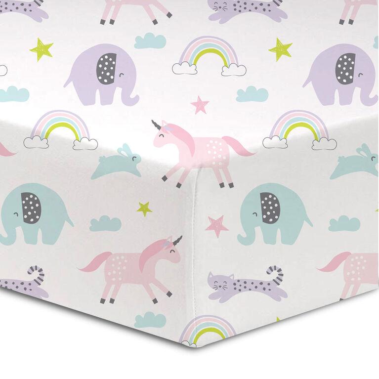 Koala Baby - Flannel 1 Happy Day Crib Sheet