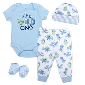 Baby Essentials Little Wild One - 4-Piece Layette Set - English Edition