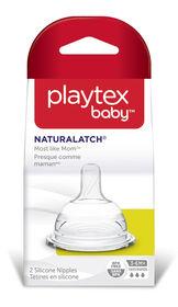 Tétines en silicone de Playtex Baby - Débit rapide - Paquet de 2