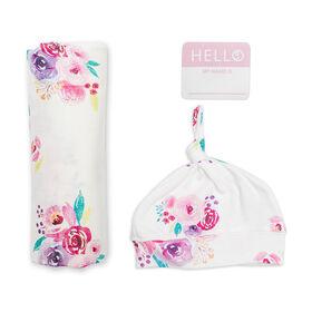 Lulujo - Hello World Blanket Set - Posies