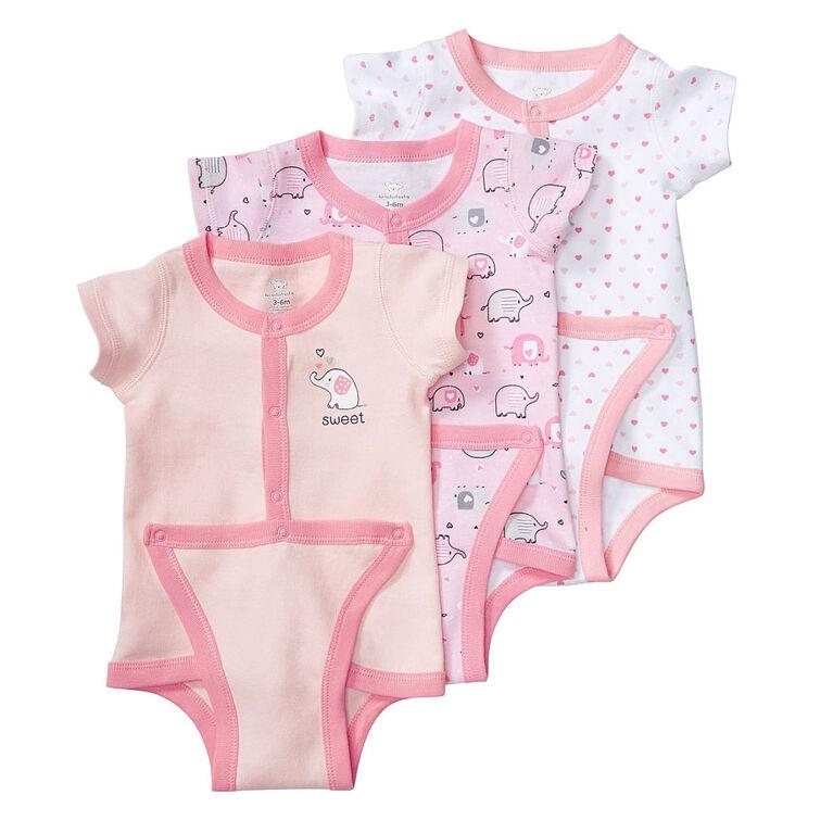 Koala Baby 3-Pack Diaper Shirt, Preemie - Pink