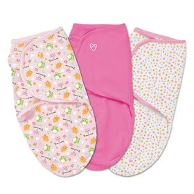 Summer Infant SwaddleMe - Couverture-sac originale - Grande - Ensemble de 3 -Hoot je suis mignon.
