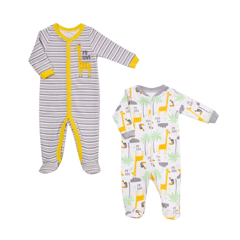 Koala Baby Unisex 2-Pack Sleeper- Giraffe 6-9  Months