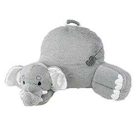 Soft Landing Nesting Nooks Premium Character Backrest with Carrying Handle & Back Pocket - Elephant