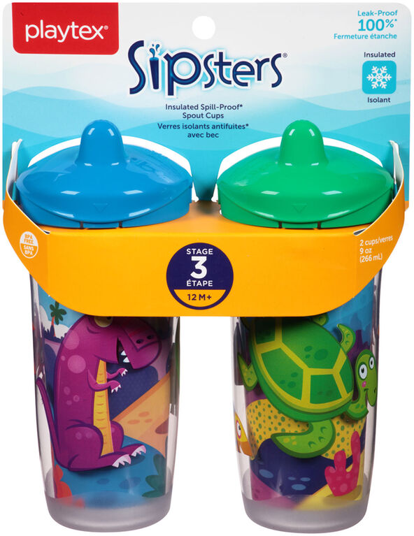 Playtex - Insulator Spout Cup 9 oz, 2-Pack - Blue, Styles May Vary