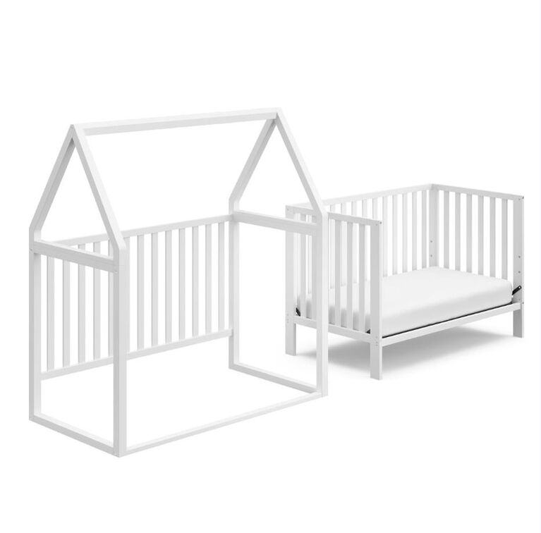 Storkcraft Orchard 5-in-1 Convertible Crib - White/White.