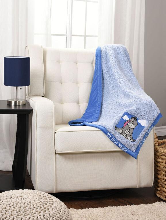 Couverture de bébé Winnie l'Ourson My First Blankie – Bleu.