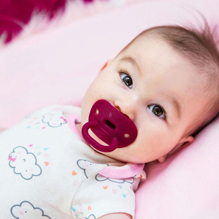 Sucette orthodontic en silicone Boon Jewl étape 2, 2 pk rose