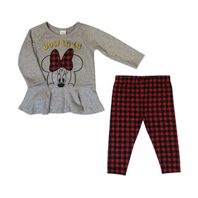 Disney Minnie Mouse 2pc Tunic Set - Red, 12 Months