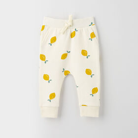 drop-crotch cozy sweats, 12-18m - white
