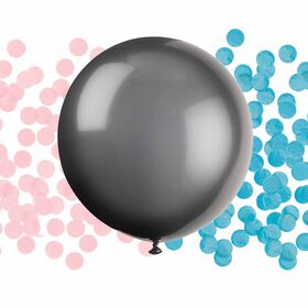 Gender Reveal Latex Balloon/Confetti 24""