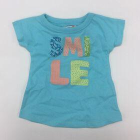Coyote and Co. - T-shirt SMILE - Bleu aqua - 9-12 mois.