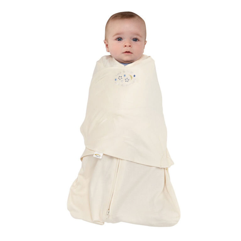 HALO SleepSack Swaddle Cotton - Cream - Small