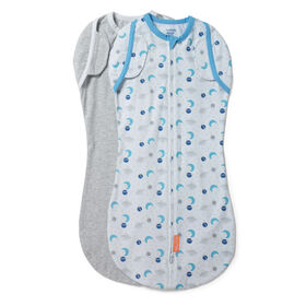 SwaddleMe Arms Free 2PK Convertible Pod ZOOM TO THE MOON STAGE 2