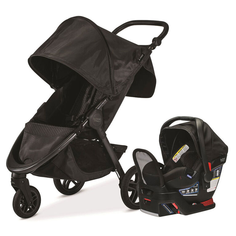 Britax B-Free Travel System - Midnight