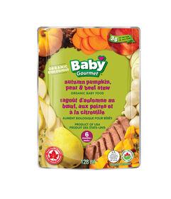 Baby Gourmet Ragoût d'automne au bœuf, aux poires et à la citrouille.