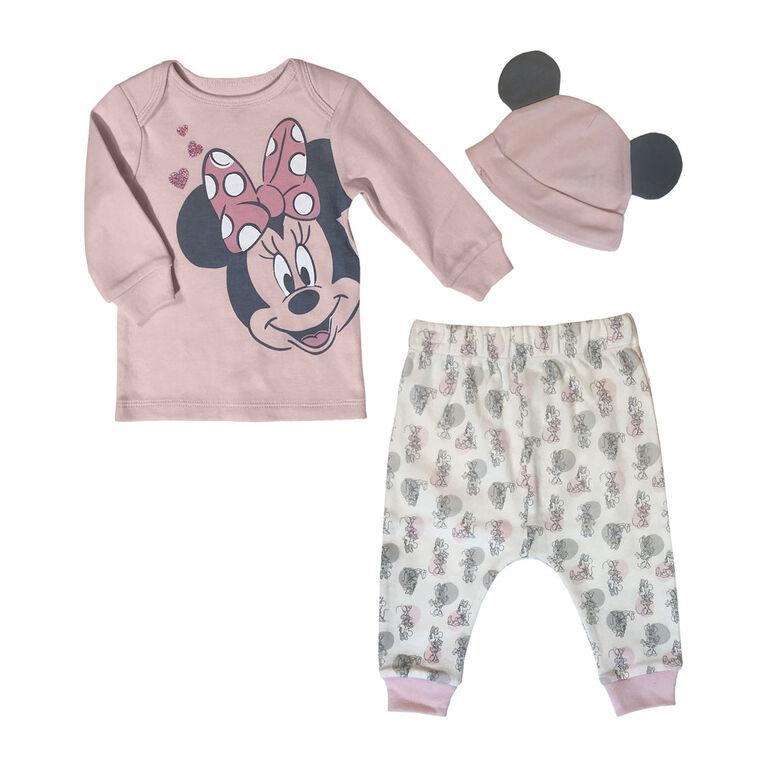 Disney Minnie Mouse 3pc pant set - Pink, 9 Months