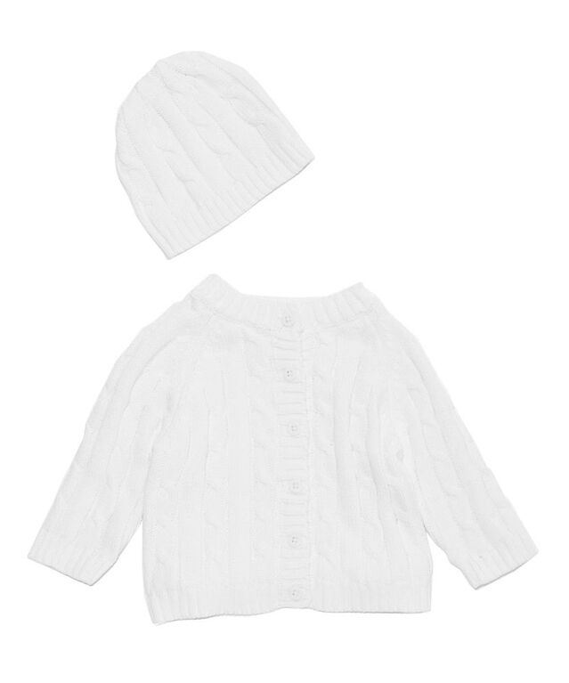 Baby Mode Signature Two Piece Cardigan and Hat Set
