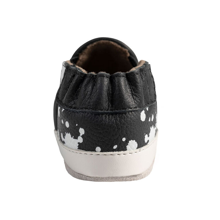 Robeez - Semelles souples Noir & Blanc Leather18-24M