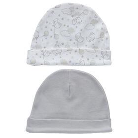 Koala Baby 2-Pack Hat Set - Grey Bear