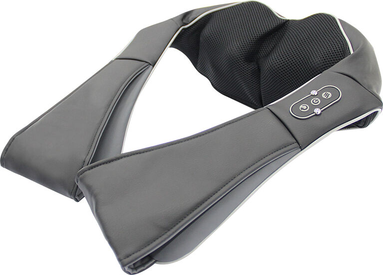Appareil de massage shiatsu à chaleur pour le cou et les épaules de Sharper Image 3D.