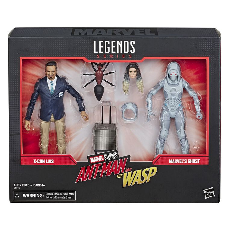 Marvel Legends Series Ant-Man et la Guêpe - Duo de figurines X-Con Luis et Marvel's Ghost.