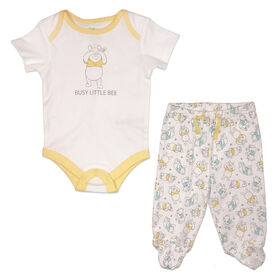 Disney Winnie the Pooh Cache couches et pantalon - jaune, 12 mois.