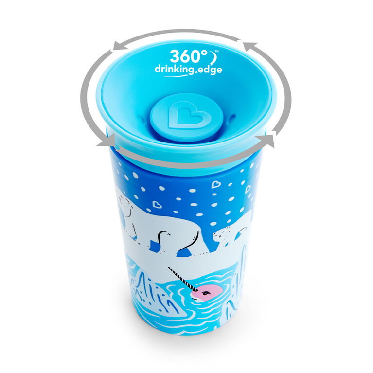 Ensemble de 2 tasses Miracle 360° WildLove - Épaulard/Ours polaire