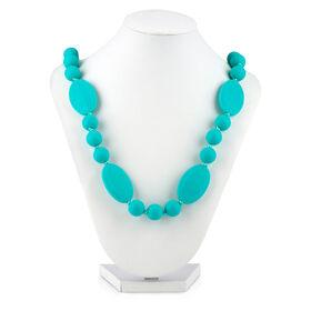 Collier de dentition a perles rondes et plates Teething Trends de Nuby -  bleu