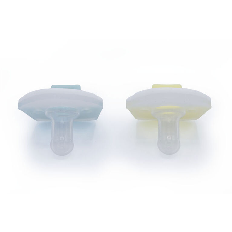 Little Toader Cookie 2-Pack Pacifier – Cupcake, Aqua/Yellow