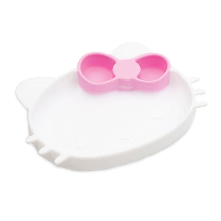 Plat à poignée en silicone Bumkins, sans BPA - Hello Kitty