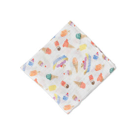 Red Rover - Cotton Muslin Swaddle Single - Ice Cream Parlor - R Exclusive