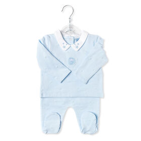 Rock a Bye Baby - Boys 2 Piece Footed Pant Set : Star - 6-9 Months